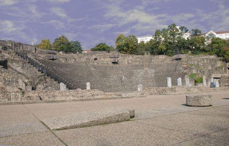 Ancient Roman amphitheater in Lyon, France
