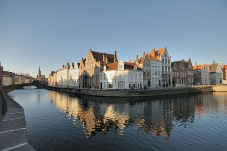 Old Flemish Houses on Brugge Canal