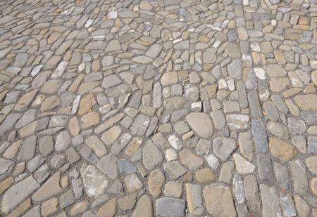 Close-up of cobblestone street for use as a background.