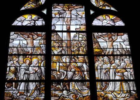 Crucifixion in Stained Glass photo