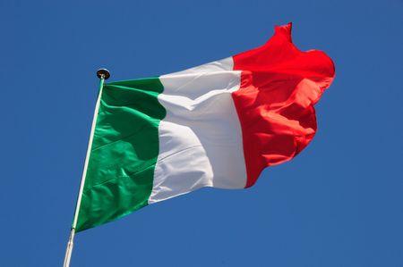 Fluttering Italian Flag photo