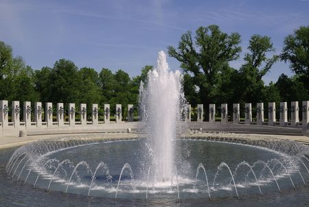 World War Two Memorial in Washington. DC