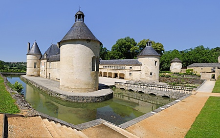 French Chateau of Bussy Rabutin in Burgundy France.
