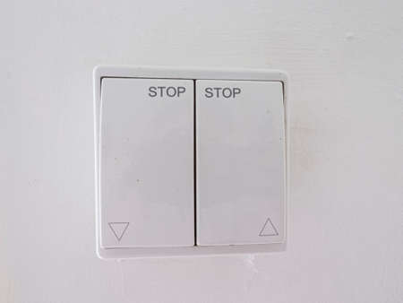 Switch for light or electric shutters, white