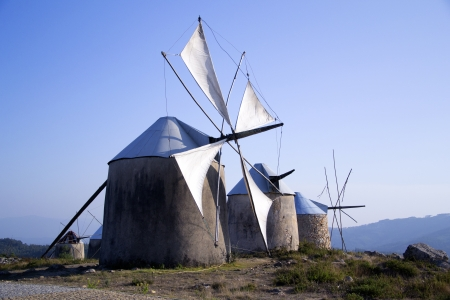 A group of windmills, in center Portugal, near Coimbra