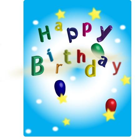 A Happy birthday postcard