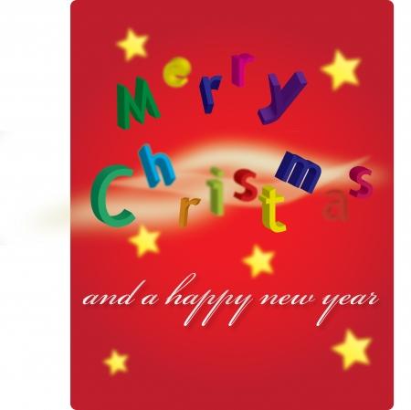 A Merry Christmas postcard