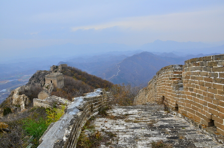 Simatai Grande Muraille, Beijing Banque d'images - 91256835