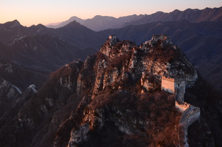 Great Wall aerial landscape view