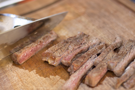 delicious barbecue at high temperature Stock Photo