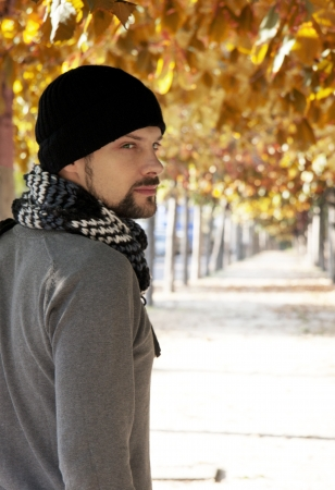autumn man Stock Photo