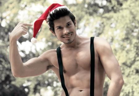 sexy santa claus boy photo
