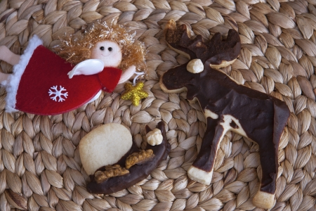 Christmas cookies moose Stock Photo