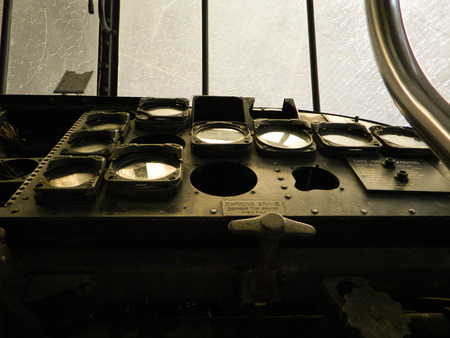 old broken helicopter panel photo