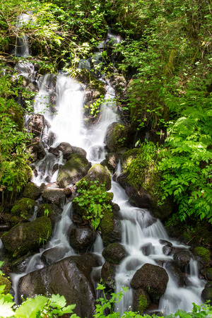 Little palmer falls along the road side in the Columbia Gorge