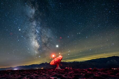 Radio observatory seeking sounds from the milky-way