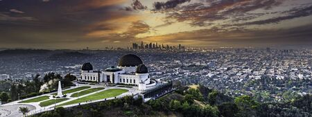 Los Angeles sunrise from Grithith Park