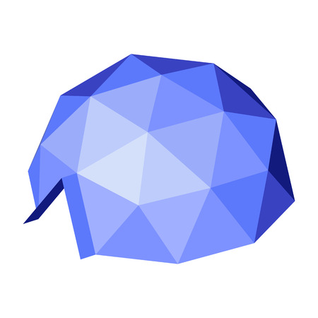 Geodesic dome. Vector isometric icon. Design element for games, apps, websites, maps etc. Isolated on white background