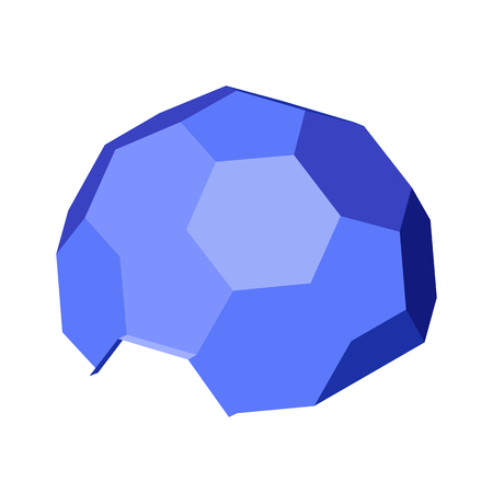 Hexagonal geodesic dome. Vector isometric icon. Design element for games, apps, websites, maps etc. Isolated on white background