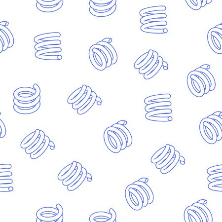 abstract seamless pattern with floating contour springs on a white background