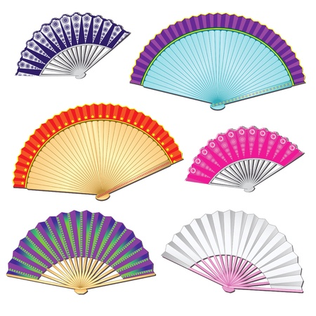 pied: colorful fan