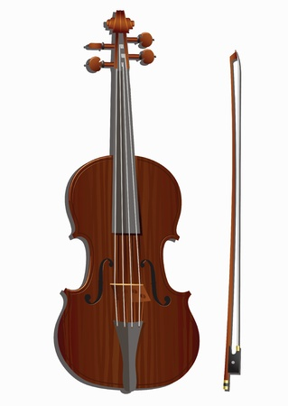 fiddle bow: violin and bow