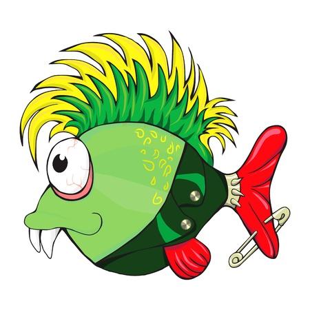 iroquois: fish-punk Illustration