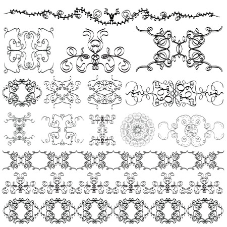 kink: elements of the pattern on a white background  Illustration
