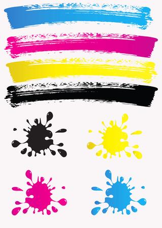 colored spots  blots CMYK