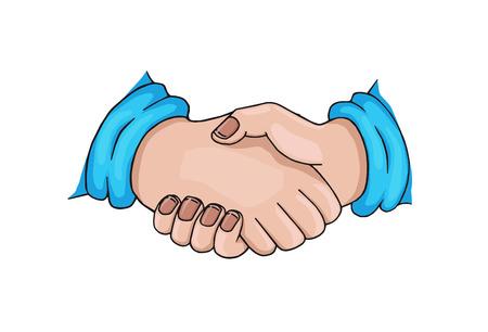 handclasp: Handshake  Cartoon style
