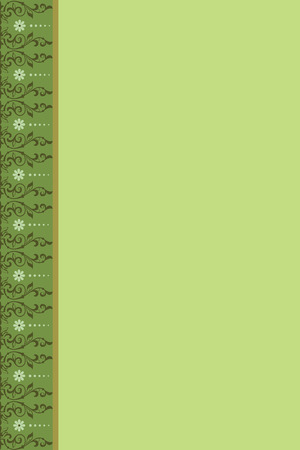 floret: green background with a lateral pattern