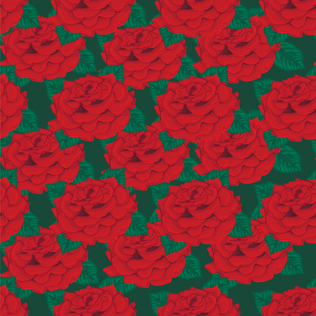 floret: Seamless background. Red roses.