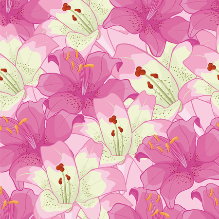 floret: background with pink lilies.floral background