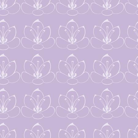 stamen: seamless Violet background with white flowers. saffron flowers. seamless pattern. Illustration