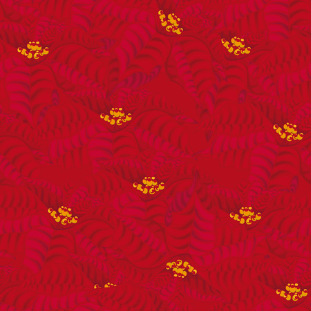 floret: Seamless red background. flowers.seamless poinsettia pattern.