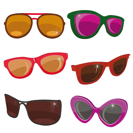 spectacle frame: sunglasses on a white background. Illustration
