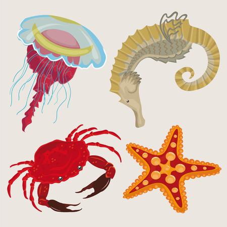sea creatures: marine life. sea creatures small.