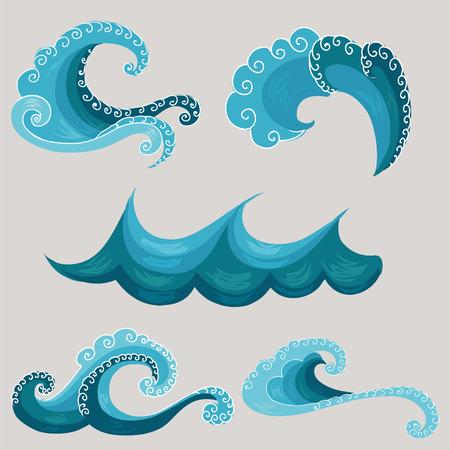 装飾的な波。