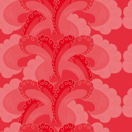 tide: seamless pattern.decorative wave.shades of red.