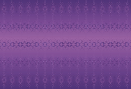 scroll tracery: Classic purple background. Wisteria and blue gem colors. Decorative elements.