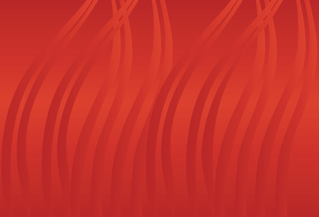 tide: Cinnabar red background with waves.