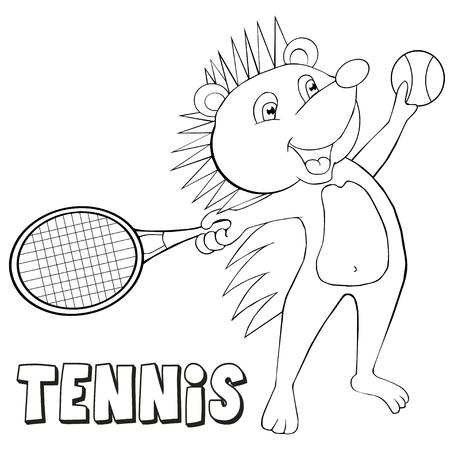 El Tenis De La Palabra Con Todas Las Letras Y La Raqueta Y Pelota ...