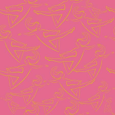 Roze illustratie met vrouwelijk patroon. Stock Illustratie