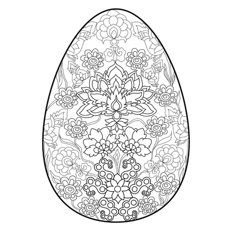 Coloring Book Anti Stress .Egg. Easter. Color Therapy. Royalty Free  Cliparts, Vectors, And Stock Illustration. Image 127503124.