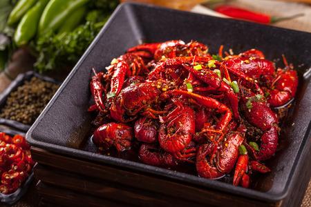Spicy crayfish Stock Photo