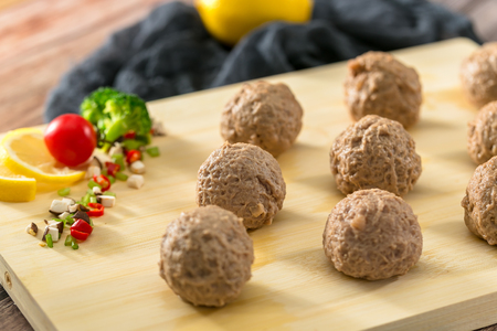 A plate of meatballs Stockfoto