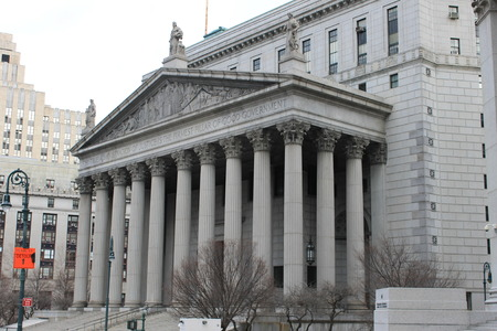 Side View of Supreme Court at 60 Center Street, New York Editorial