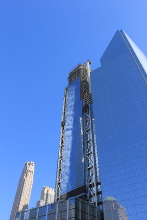 Scene of Building a Skyscraper in Downtown, New York