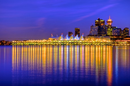 cor: Blue Hour at Canada Place
