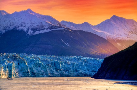 Sunrise at Hubbard Glacier, Alaska photo